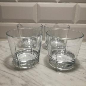 4 Rosendahl drinks glas. 8 cm høje og 9 cm i diameter. Perfekt stand  Skal afhentes på Islands Brygge
