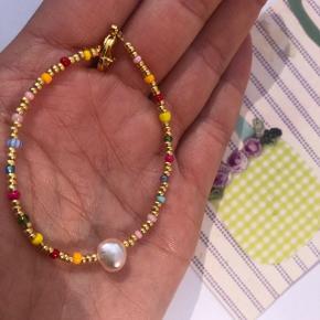 Perle Armbånd med ferskvandsperle Ⓜ️ Mål: 16 cm 💮 Prisen er fast og inkl Porto