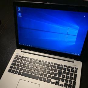 ASUS S551L laptop med en i5-4200, 6GB RAM samt en 160 GB SSD Harddisk. Pc'en er nyformateret med Windows 10 Home og klar til brug. Rigtig pæn.