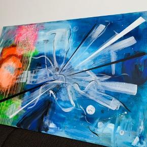 Super smukt maleri, som passer ind i alle hjem😊 bud modtages omkring 100x150 cm købspris 2000kr