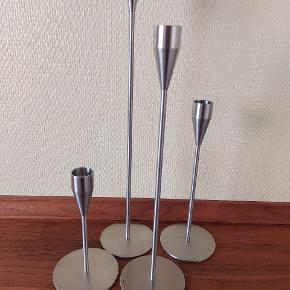 4 Piet Hein stager i forskellig højde til almindelige lys.....sælges samlet til prisen på annoncen plus porto
