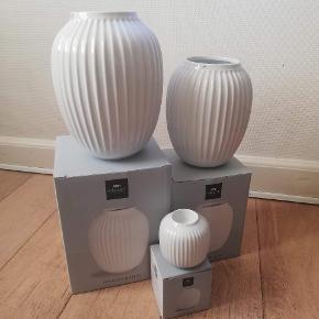 Kähler vaser Stor hvid 350 Mellem hvid 250 Lille hvid 150