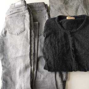 Strik fra Zara 2 bukser fra H&M. Skinny fit Cardigan fra Bakito