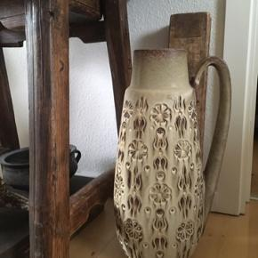 Retro gulvvase fra W Germany  højde 46 cm  Ingen skår