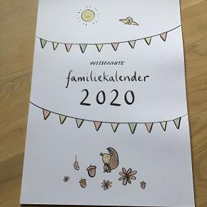 Helt ny WITHWHITE 2020 kalender, måler 30x42 cm, til at hænge op Koster 200,- i butikkerne nu, sælges til 100,-