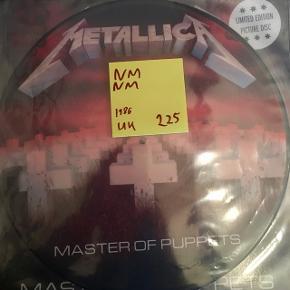 Metallica billed lp vinyl plade ny Master of puppets heavy metal