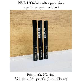NYE L'Oréal - ultra precision superliner eyeliner black  Pris: 1 stk. NU 40,-  Vejl. pris: 85,- pr. stk. (3 stk. tilbage)