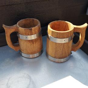 Super fede kopper af træ..  Ideelt til udeliv m.m.  Afhentes i Skalborg eller sendes med DAO på købers regning.