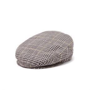 Grey Gabor Checked Tweed Flat Cap Str 55 Brugt få gange og fremstår som ny