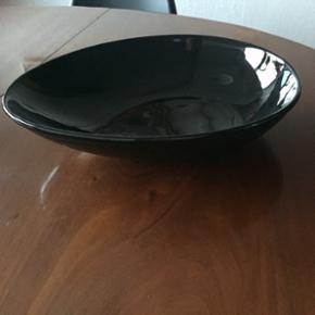 40 x 30cm salat skål i glaseret keramik.