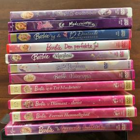 11 stk. Barbie DVD film. 25 kr/stk. Alle samlet for 225kr