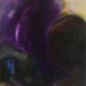 Varetype: Maleri Størrelse: 35 x 40 cm. Farve: Lilla  Helt nyt akrylmaleri som ikke har været udstillet endnu.  35 x 40 cm. 2500 kr.