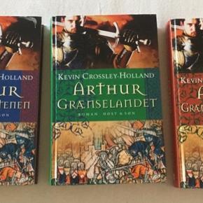 Kevin Crossley Holland bøger om Kong Arthur. Samlet for alle tre 45 kr