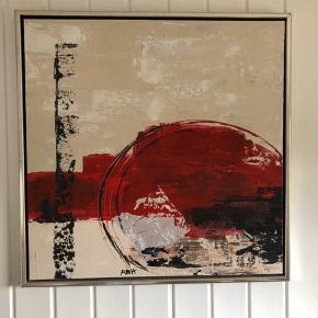 Maleri fra ilva - er i pæn stand. Mål 74x74 cm  hentes i Over Dråby strand ved Jægerspris