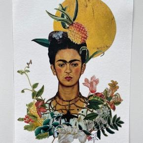Frida Kahlo plakat, A5. Kan også sendes for 10kr som brev med post nord på eget ansvar.