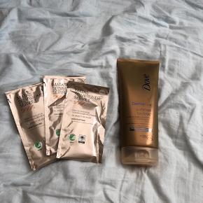 3 selvbruner servietter + 1 Dove summer received lotion selv bruner Aldrig brugt 65kr