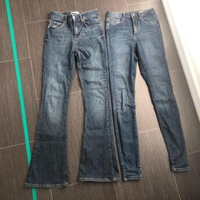 """* 2 x skønne """"nye """" jeans 😀 Begge brugt 2 gange 🌸  * Vero Moda str 24  * Gina Tricot str S ☀️🌸☀️🌸  Nypris for begge 600kr  Begge sælges for 150kr"""