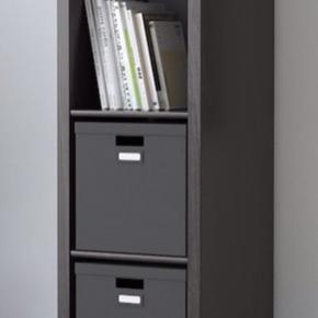 KALLAX Reol, sortbrun, 42x147 cm