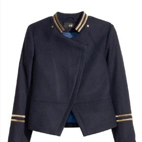 Ala Ralph Lauren military jacket from H&m x Gisele limited capsule collection. Rare and sold out. Navy wool military jacket with zipper. New with tags. Size 38/M