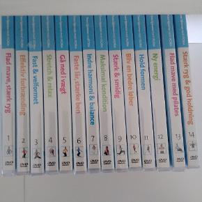 Trænings DVD'er fra iFORM. Alle 14 i serien. Kun den ene har været pakket ud, ellers er alle stadig i folien. NY pris 149/stk