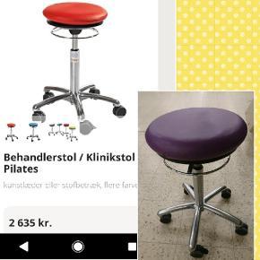 Behandler stol. Rigtig fin klinik stol med  Dynair luft pude ( Pilates stol). Ny pris var  2600 kr plus moms.