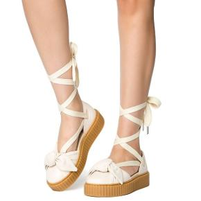 Puma x Fenty By Rihanna Women Bow Creeper Sandal (silver pink oatmeal)