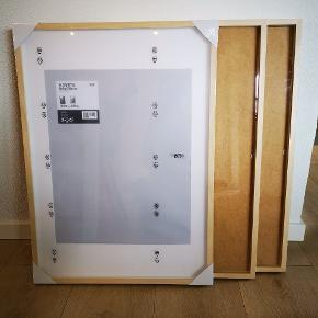 Træ rammer fra IKEA, 2 af dem har været åbnet og den ene er stadig pakket ind, fejler ingenting, sælges samlet.
