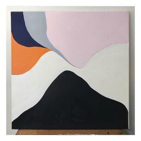 Maleri 2018, acryl på lærred. 90x90 cm. Kan afhentes i mit atelier frb c. Kan efter aftale leveres i København/Frederiksberg.  Pris 4000,-
