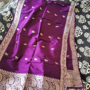 Indisk silketørklæde fra Varanasi