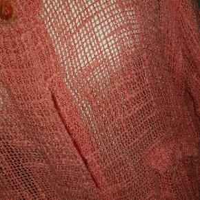 Masai tunika eller lang cardigan i net lign. Stof. Varm orange, fin stand #30dayssellout