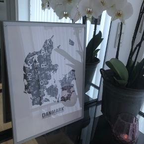 Danmark plakat fra kortkartellet i str. 40x30