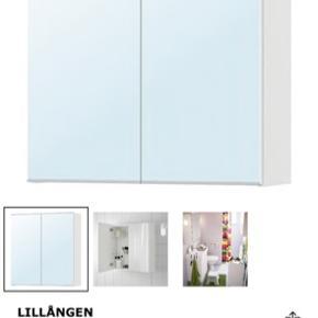 Ikea badeværelset skab med spejl og 3 hylder  Købt for 5 måneder siden men sælges grundet flytning, super praktisk og pænt