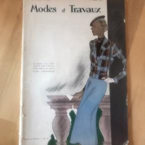 """Fransk modemagasin """"Modes et Travaux"""" fra januar 1936 47 sider Købt på loppemarked i Paris"""