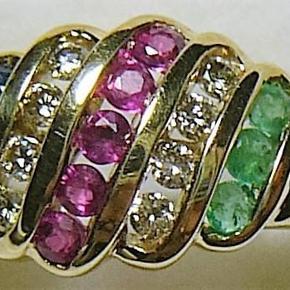 Brand: ring Varetype: guldring Størrelse: 54 Farve: guld  guldring m ædelsten