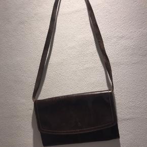 Læder crossbag