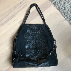 Super flot ægte læder taske købt fra Helle Annemann. Normal pris var 1000kr. Den er brugt meget lidt så den fremstå som ny taske. Fejler intet. Str. Er b: 35cm