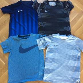 4 stk t-shirts fra Nike sælges samlet for 200,-  Alle er i Nikes børnestørrelse L, som er 147-158 cm, 12-13 år.  God men brugt.
