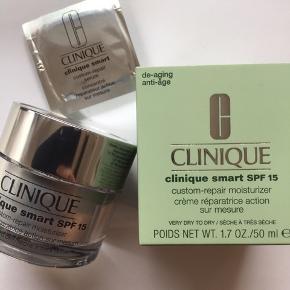 Aldrig brugt  Clinique smart dagcreme spf 15 hudtype 1  Nypris 495 kr Pris 350 kr plus Porto