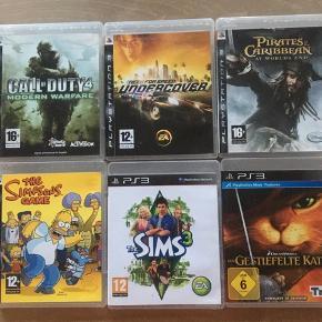 100kr pr. Spil , rabat ved køb af flere. Til PS3. Alle spil er brugt men fejler intet.