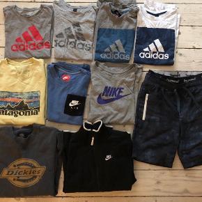 T-shirts fra Adidas, Nike m.fl., langærmede trøjer, badeshorts fra Hummel. Alt i pæn stand. Sælges for 75. kr. pr. del og gerne samlet! Har en del andet tøj til drenge i denne str., så spørg endelig for yderligere info;) Afhentes på Frb.
