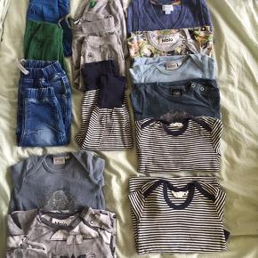 Tøjpakke str 74 - mærker som Wheat, småfolk, Molo, Müsli, Noa Noa,   Bodyer, bukser, vest, heldragt   Sælges også hver for sig