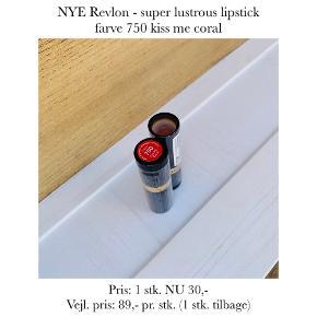 NYE Revlon - super lustrous lipstick farve 750 kiss me coral  Pris: 1 stk. NU 30,-  Vejl. pris: 89,- pr. stk. (1 stk. tilbage)   Se også over 200 andre nye produkter, som jeg har til salg herinde :-)