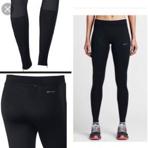 Nye Nike dri-fit essential tights. Aldrig brugt, helt nye, kun ligget i skabet. Kan sendes hvis køber betaler for fragt!