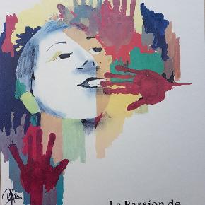 Meget smuk plakat og motiv med Bjørn Wiinblad illustration.  Aluramme og glasplade. Ingen skår.  Måler 60 x 85 cm.   Sender ikke. Skal afhentes.