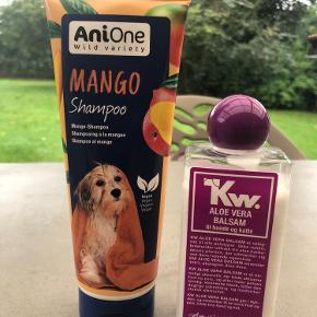 Kw aloe Vera balsam Anione mango shampoo  Brugt 1 gang  Samlet 100 kr