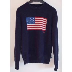 Fri fragt 🌟   Fed strik fra Ralph Lauren med det amerikanske flag 🇺🇸  - str. m - næsten som ny - nypris 2200,-   Sælges for 500,-