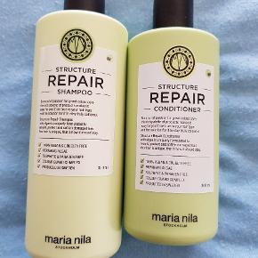Maria nila - repair shampoo og conditioner. Er nye og ubrugte. Disse var et fejlkøb.