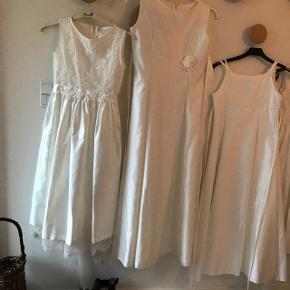 4 smukke BRUDEPIGE KJOLER fra Lilly brugt en gang og nyvaskede (INGEN pletter!) kjolerne er fra venstre str 12, str 14, str 10 og str 6 år. Nypris pr kjole ca kr 900  Samlet pris kr 900, pris pr stk 300