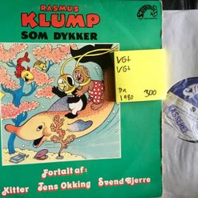 Rasmus klump som dykker vinyl lp plade børnemusik