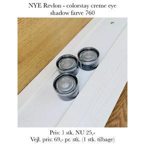NYE Revlon - colorstay creme eye shadow farve 760  Pris: 1 stk. NU 25,-  Vejl. pris: 69,- pr. stk. (1 stk. tilbage)   Se også over 200 andre nye produkter, som jeg har til salg herinde :-)